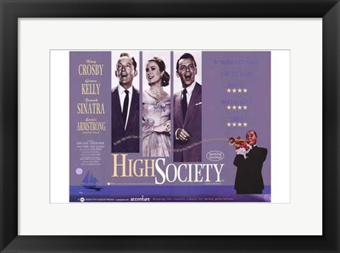 Framed High Society - wide Print