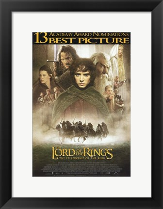 Framed Lord of the Rings: Fellowship of the Ring Best Picture Print
