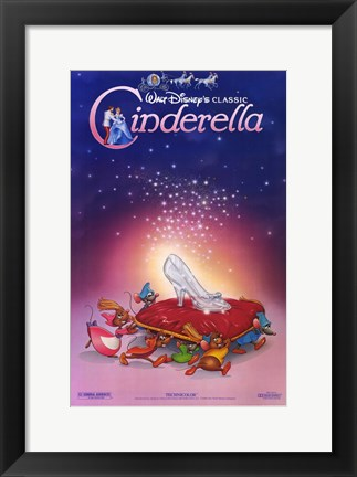 Framed Cinderella Glass Slipper Print