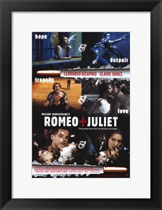 Framed William Shakespeare's Romeo Juliet Scenes Print