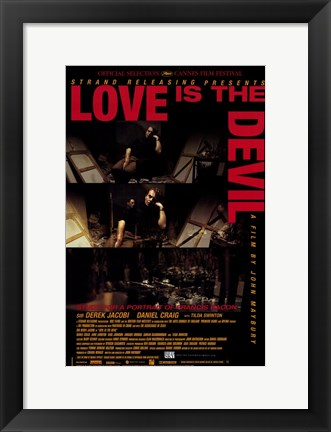 Framed Love is the Devil Print