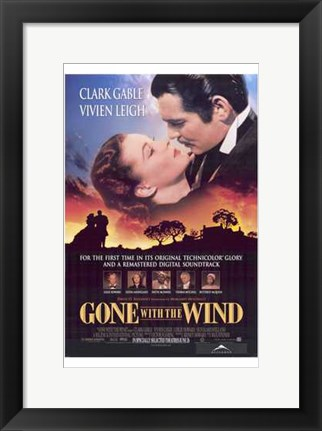 Framed Gone with the Wind Scarlett O'Hara Print