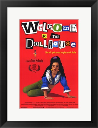 Framed Welcome to the Dollhouse Print