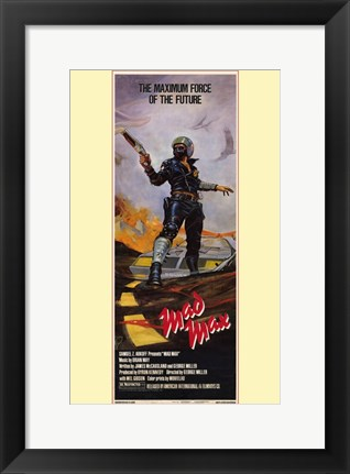 Framed Mad Max Maximum Force of the Future Tall Print