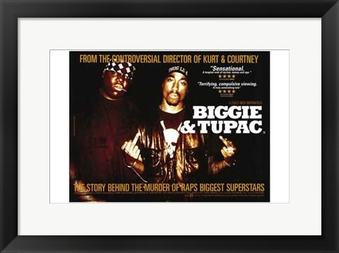 Framed Biggie and Tupac Print