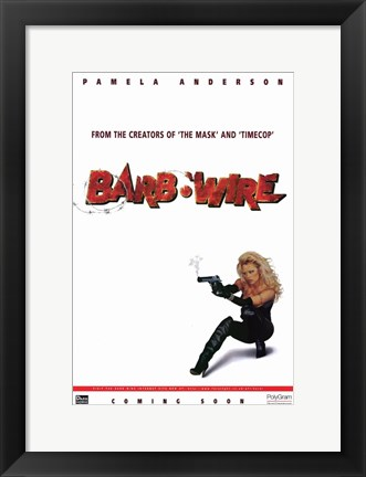 Framed Barb Wire - style B Print