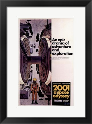 Framed 2001: a Space Odyssey Astronaut Print