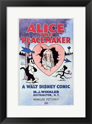 Framed Alice the Peacemaker Print