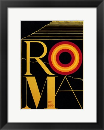 Framed Fellini's Roma Czech Print