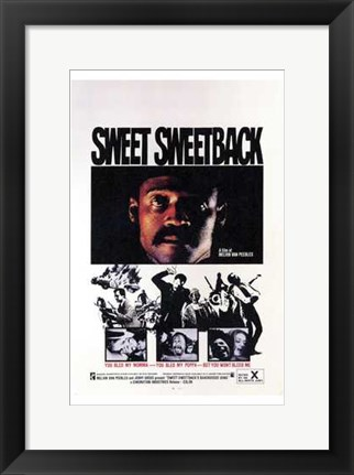 Framed Sweet Sweetback's Baad Asssss Song Print