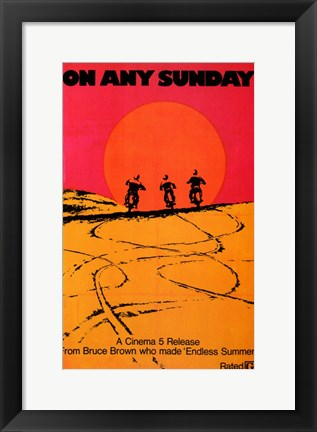 Framed on Any Sunday - A Cinema 5 Release Print