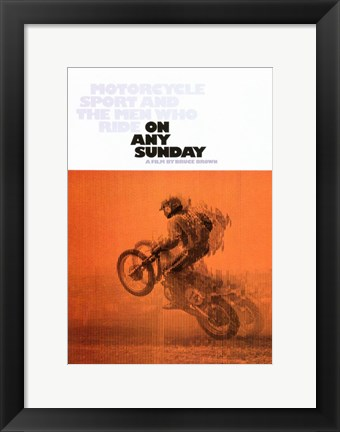 Framed on Any Sunday Print