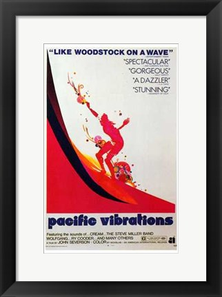Framed Pacific Vibrations Print
