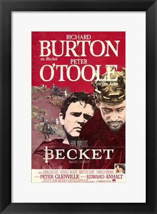 Framed Becket Richard Burton Print
