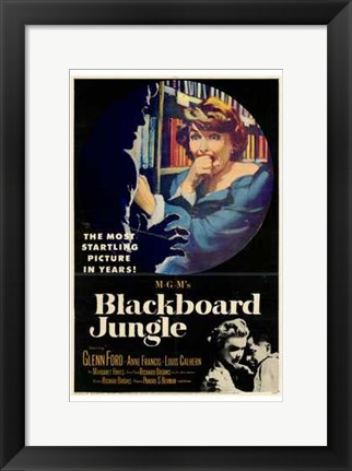 Framed Blackboard Jungle Print