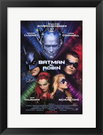Framed Batman and Robin Movie Print