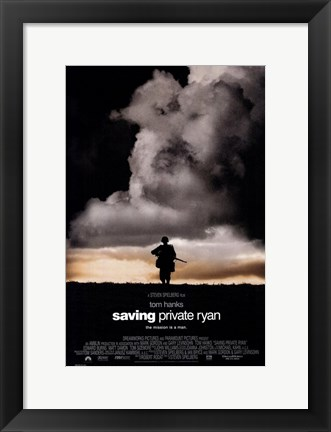 Framed Saving Private Ryan - Man Walking Print