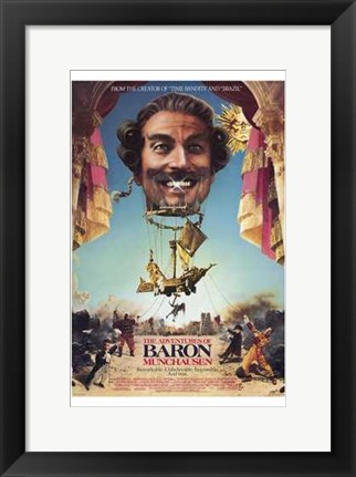 Framed Adventures of Baron Munchausen - man's face Print