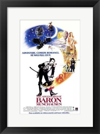 Framed Adventures of Baron Munchausen Print