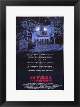 Framed Amityville 2: the Possession Print