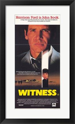 Framed Witness Harrison Ford Print