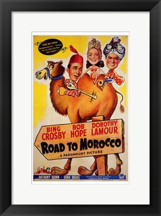 Framed Road to Morocco Print