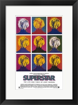 Framed Superstar  Life Times of Andy Warhol Print