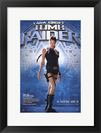 Framed Lara Croft: Tomb Raider Film Print