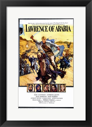 Framed Lawrence of Arabia Cast Print