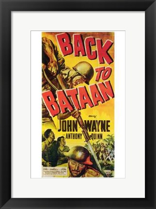 Framed Back to Bataan Print
