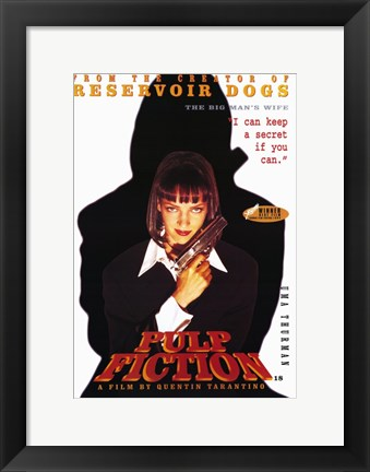 Framed Pulp Fiction The Big Man's Wife Print