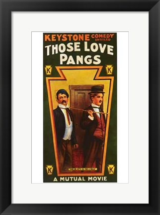 Framed Those Love Pangs Print