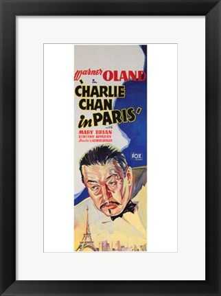 Framed Charlie Chan in Paris Print