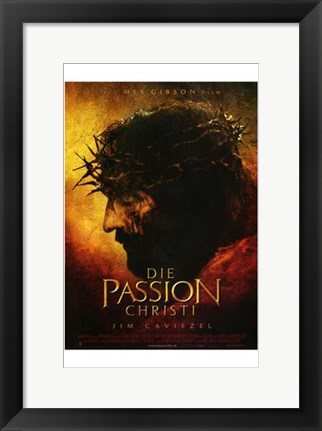 Framed Passion of the Christ - German Print