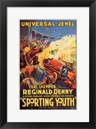 Framed Sporting Youth Print