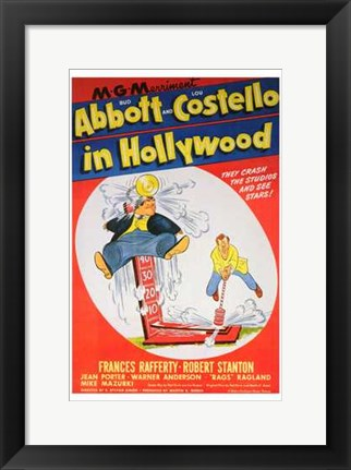 Framed Abbott and Costello in Hollywood, c.1945 Print