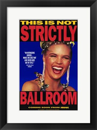 Framed Strictly Ballroom Tina Sparkle Print
