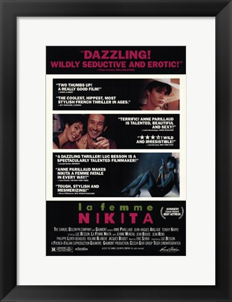 Framed La Femme Nikita - movie scenes Print