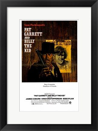 Framed Pat Garrett and Billy the Kid Print