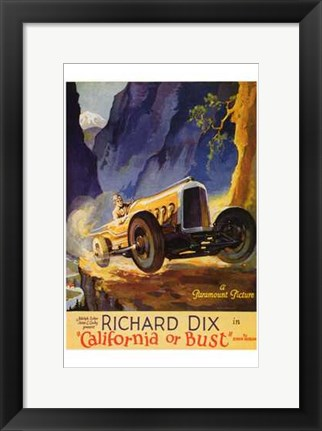 Framed California or Bust Print