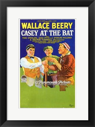 Framed Casey At the Bat Print