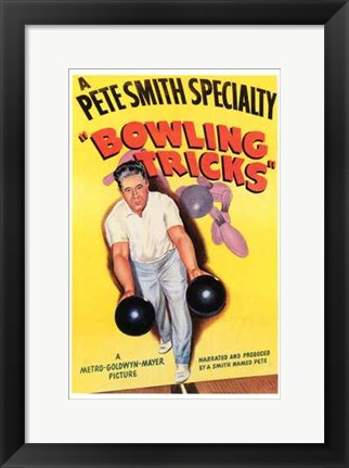 Framed Bowling Tricks Print