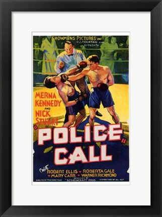 Framed Police Call Print