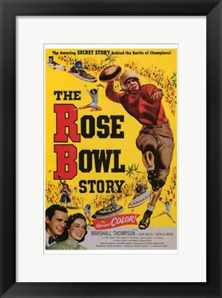 Framed Rose Bowl Story Print
