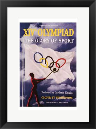 Framed XIV Olympiad: the Glory of Sport Print
