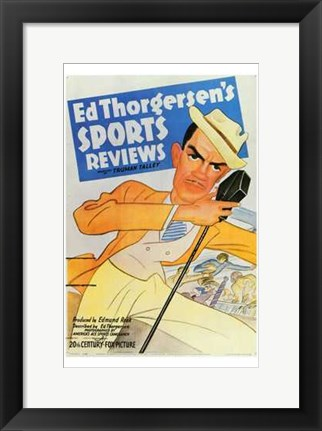 Framed Ed Thorgersen's Sports Reviews Print