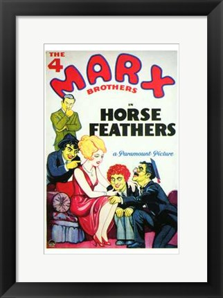 Framed Horse Feathers By Paramount Print
