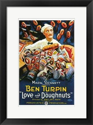 Framed Love and Doughnuts Print