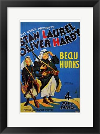 Framed Beau Hunks Print