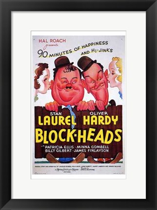 Framed Block-Heads Print